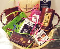 Deluxe Organic Coffee Vegan Chocolate Basket